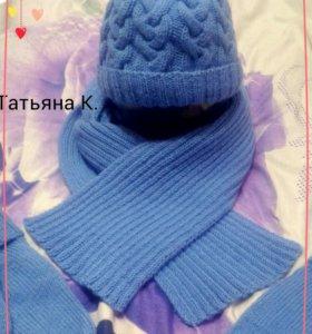 Набор на зиму: шапка, шарф и варежки