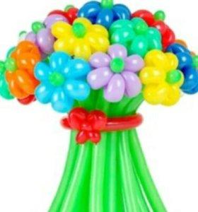 Букеты из шариков)))