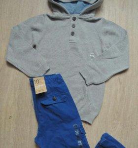 Вязанная толстовка и брюки с карманами