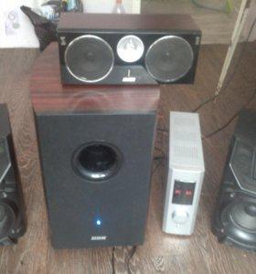 Аудиосистема (домашний кинотеатр) саб,усел,колонки