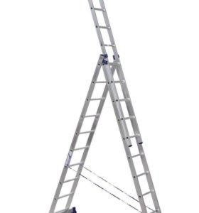 Лестница-стремянка трехсекционная АЛЮМЕТ 5310