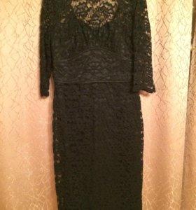 Кружевное чёрное платье 👗