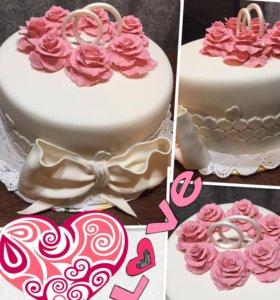 Тортики свадебные