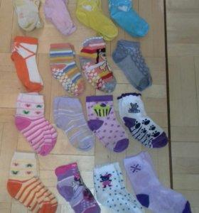 Носочки для девочки от 1 года до 6 лет
