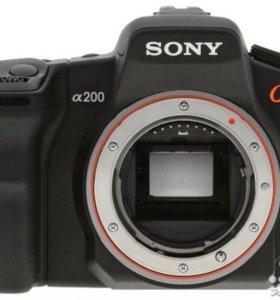 Зеркальный фотоаппарат Sony Alpha DSLR-A200