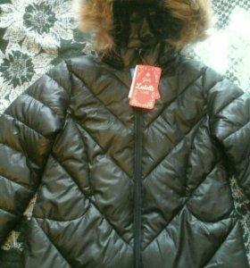 Куртка зимняя для девочки,новая.