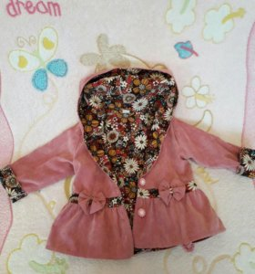 Пальто-плащ для девочки