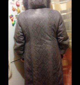 Зимнее,новое пальто - пихора 56-58