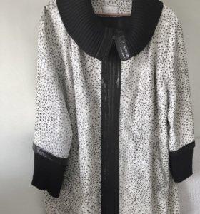 Куртка кожаная размер 60-64 белая