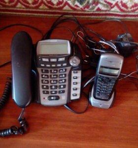 Стационарный телефон плюс трубка