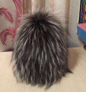 Женская шапка натуралка чернобурка