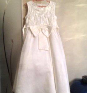 Шикарное платье для девочки 5-7 лет рост 110-125