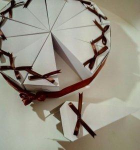 Бумажный торт.