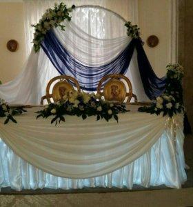 Украшение свадебного зала!!!