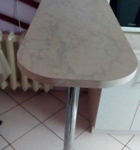Барная стойка плюс 2 хромированные трубки по 2,5 м