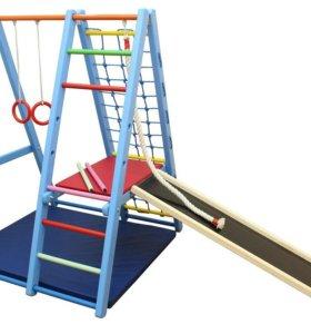 Детский спортивный комплекс Карапуз 170см Дерево