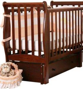 Детская кроватка Ледь лаванда
