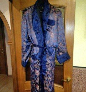 Мужской халат шелковый