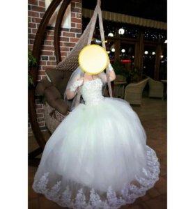 Свадебные платья разные  прокат