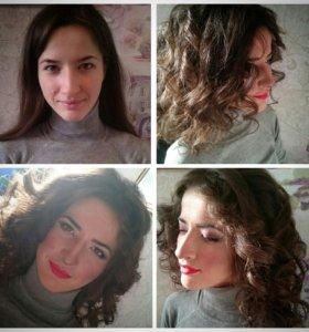 Прическа + макияж ❤