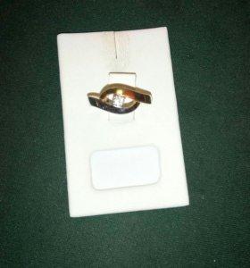 Кольцо 💍 с бриллиантом золото белое+красное 585