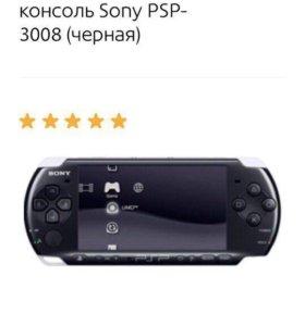 PSP-3008 (черная) с тремя играми