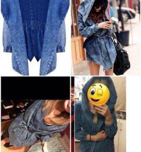 Куртка ветровка джинсовая