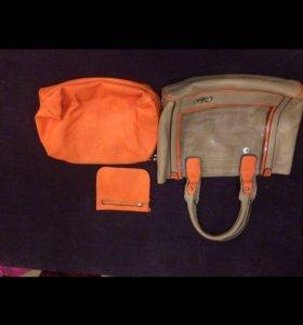 Летняя сумка,кошелек,косметичка-3 в 1