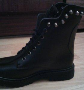 Ботинки кожаные зимние новые