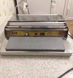 Горячий стол для упаковки продуктов + рулон пленки