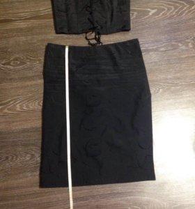 Костюм юбка корсет