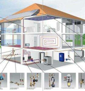 Септик, отопление, водоснабжение, канализация.