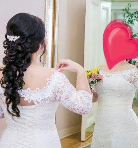 Свадебное венчанное платье