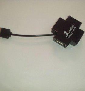 Адаптер Концентратор USB 2.0 на 4 порта