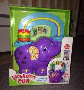 Новая игрушка считалка слоник