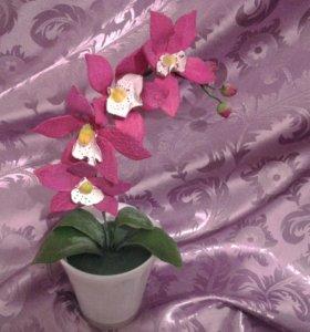 Орхидея (готовая работа, размер 11х25см.)