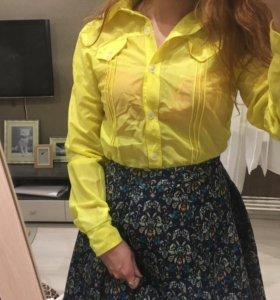 Рубашка жёлтая