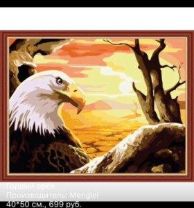 Раскраска по номерам.орел