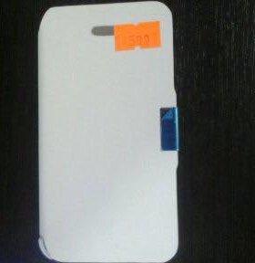 Чехол книжка на iPhone 4 4S белая на магните