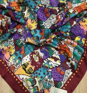 Новый платок шёлк с котами
