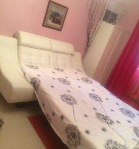 Белый диван эко кожа (Клеопатра)