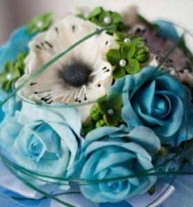 """Свадебный букет"""" Голубая синева"""""""