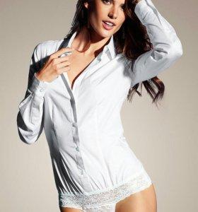 рубашка боди молочного цвета VICTORIA SECRET