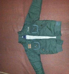 Детская осенняя куртка б/у в хорошем состоянии
