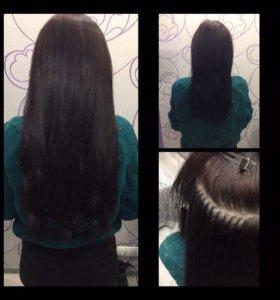 Волосы для наращивания на капсуле