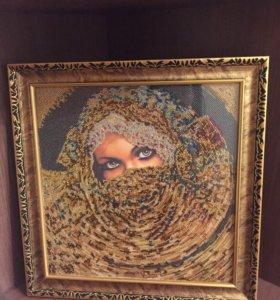 Картина бисером на художественном холсте