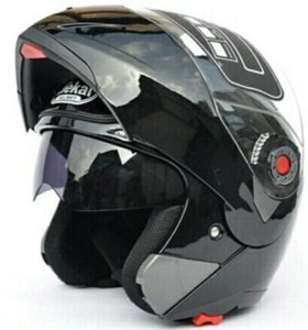 Мото шлем модуляр чёрный мотошлем трансформер