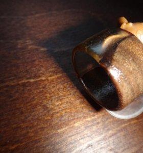 Деревянное кольцо, ювелирная смола