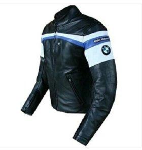 Мото Куртка бмв BMW мотокуртка кожаная ПУ