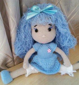 Вязаная Кукла Мальвина